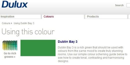 Dulux's Dublin Bay green