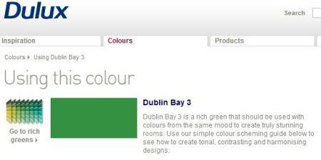 Dulux's Dublin Bay green