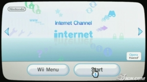 The Internet Channel on the Wii