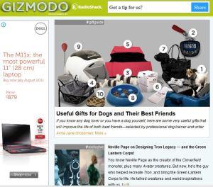 Gizmodo's website