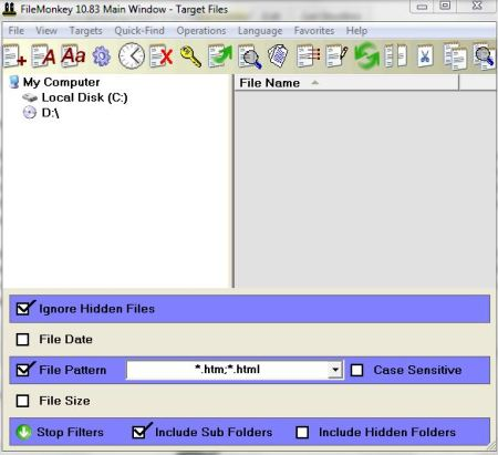 FileMonkey's interface