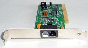 A 56k dial-up modem