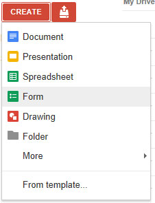 Create a form in Google Docs