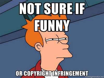 Copyright infringement joke